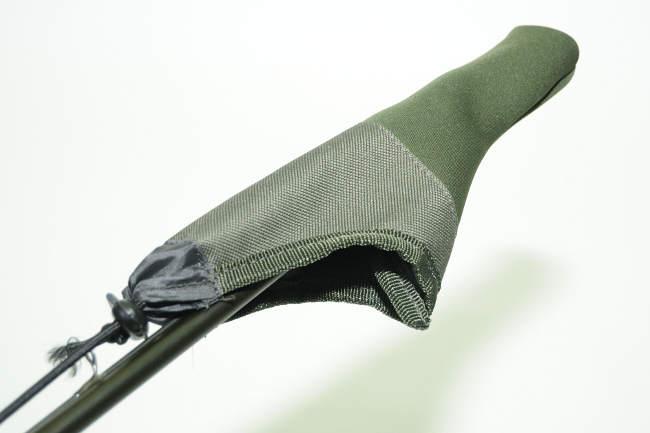 Durch ein Cover ist die Rutenspitze geschützt.